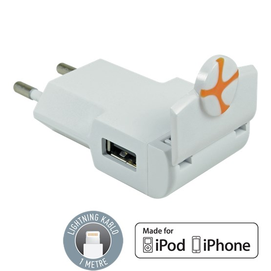 Tuncmatık Flıpcharger-Lıghtnıng (Apple Mfı)-1A-0.3Mt. Cable